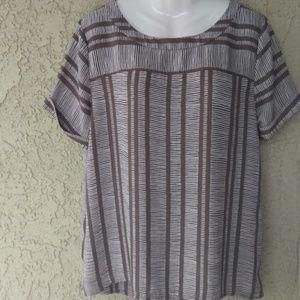 Ann Taylor's loft brown striped blouse